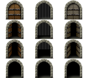!$dungeon Of Sorrow Gate by Nicnubill