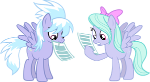Cloudchaser and Flitter by Ambassad0r