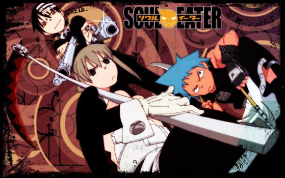 Wallpaper .:Soul Eater:. Wide by FullmetalSparkle