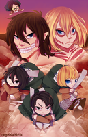 Print: Attack on Titan by OMGProductions