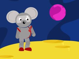 Mouse on the moon by mapgie