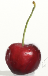 Cherry Study by Catmandolin