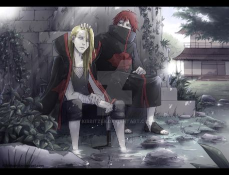 Deidara and Sasori by Kibbitzer
