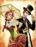 Steampunk couple by Mintonia