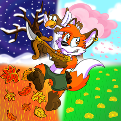 Fox n Forests by Hukley