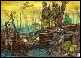 AT - WW1: Benny and Fritz by 25Nanao16