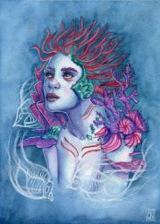 Gaia Of The Deep: link to video process inside by AmandaRamsey