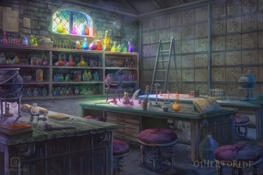 [C] Potions classroom by MalthusWolf
