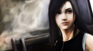Tifa painting by jackroono