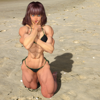 Candi on the Beach 2 by kittyelfie