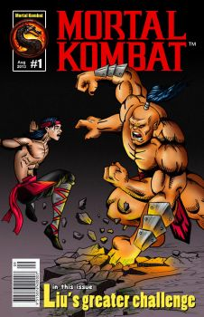 Mortal Kombat - comic book cover by NinjaBrazil