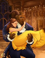 Belle and Her Beast (live action) by Sketchderps