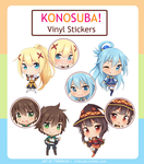 KonoSuba Stickers! by Tiribrush