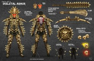 Skeletal Armor by DNA-1