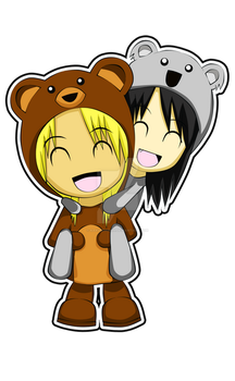Koala and Bear by kakurenshin