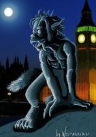 A 2D Werewolf in London by wolfmarian