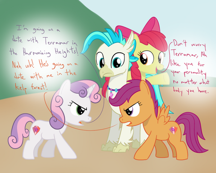 Cutie Mark Crusaders Hippogriff Daters Yay by Hypnopony