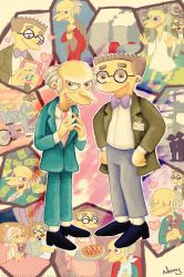 I love Mr. Burns and Smithers by MissNeens