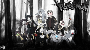 Dark type Pokemon trainers (Re-Updated art)