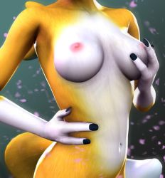 Renamon Titties by DarkStory