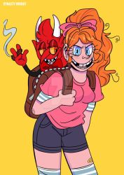 A GIRL AND HER DEMON ( CHARLOTTE REDESIGN) by LittleMissDevil21