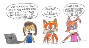 Freedom Fighters notice a IDW Sonic pre-order by dth1971