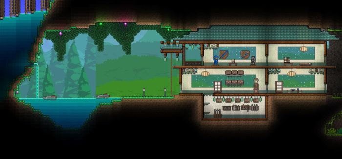 Terraria Japanese Under Ground House by XploSlime7