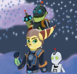 Galactic Rangers Ratchet and Clank by PsychicDuelistRBD