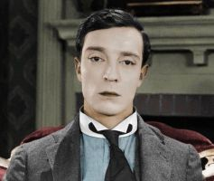 Buster Keaton in colour 2 by dontforgetfrank