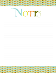 Notes - Spitting Colors by Defreve