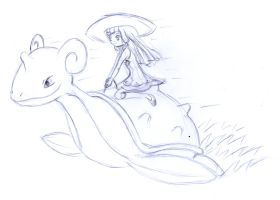 Lilly Lapras Ride sketch by frolka