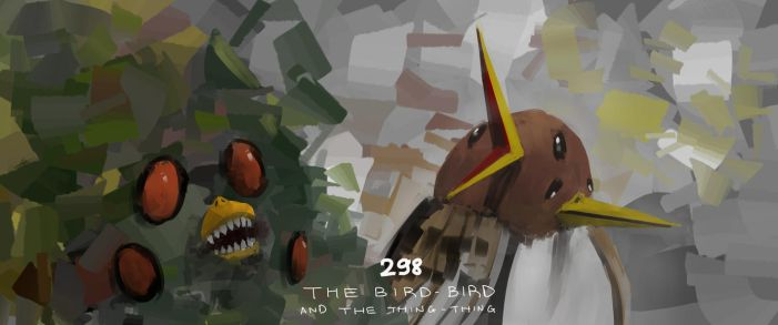 The bird-bird and the thing-thing by Otiar
