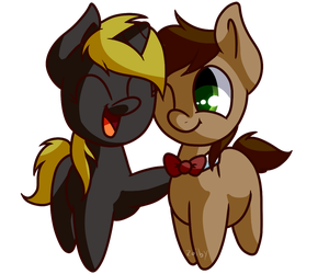 Bunnylove and Dr Whooves by Zoiby