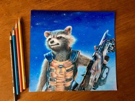 Rocket Raccoon | Guardians of the Galaxy by AmongSakura