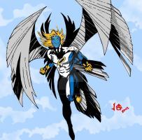 Archangel In Blue by JesseAllshouse