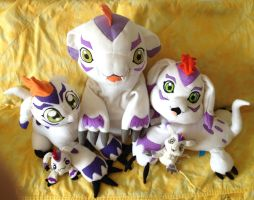 Gomamon plush collection by kovuification