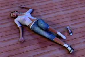 Fainted on the floor by LordOfTheCarry