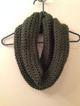 Double Crocheted Chunky Infinity Scarf by craftyhanako