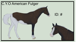 C.Y.O. American Fulger ID#234 by BiscottiStables
