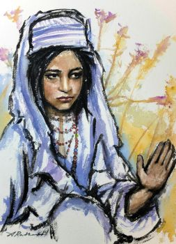Study of an Afghan Girl by akrathan