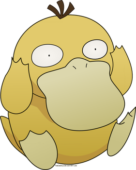 Free Psyduck Pokemon Vector by Emerald-Stock