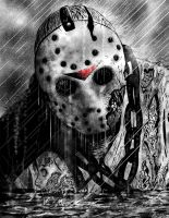 Friday the 13th Jason Emerges by DougSQ