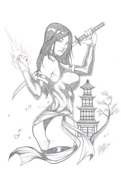Commission - Psylocke by Dannith