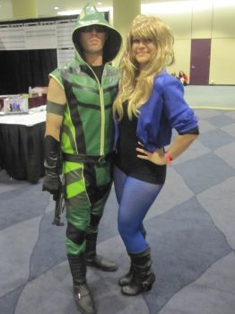 Black Canary and Green Arrow by tori-turtle