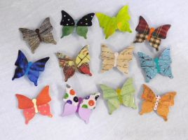 Pretty Paper Butterfly Pins by Kyle-Lefort