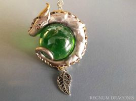 Silver and Golden Dragon Necklace by RegnumLaternis