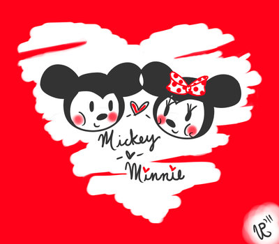 Mickey and Minnie Mouse by Hoshi-dono