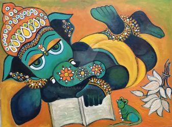 Reading Ganesha by manjulak