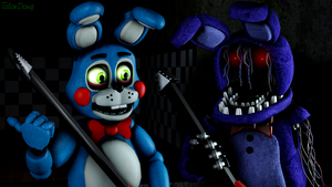 How about we perform on the stage?-Toy Bonnie by TalonDang