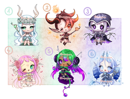 ADOPTS: Elemental mages [CLOSED] by Mewpyonadopts